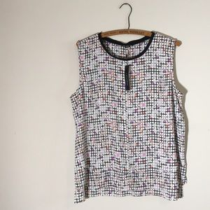 XL Metaphor geometric pattern blouse. NWT